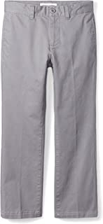 Amazon Essentials Boys' Straight Leg Flat Front Uniform Chino Pant Niños
