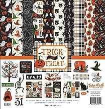 "New Echo Park  6/"" x 6/"" Paper Pad Halloween Trick or Treat"