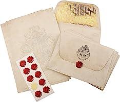 Harry Potter Hogwarts Briefpapierset, A5-Notitiepapier, 10 Enveloppen met Wapenschap, 10 Waszegelstickers, 20 Vellen