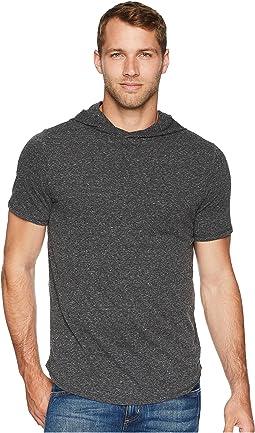 Tri-Blend Pullover Short Sleeve Hoodie