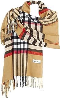 9994411bd60ea Ornella Venturi Foulard Etole pour femme écharpe à carreaux en damier doux  et chaud comme du