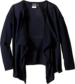 Nautica Kids - Girls Plus Drape Front Sweater (Big Kids)