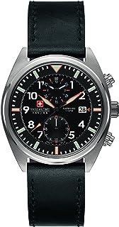 Swiss Military Hanowa - 6-4227.04.007 - Reloj de Cuarzo, Correa de Cuero Color Negro