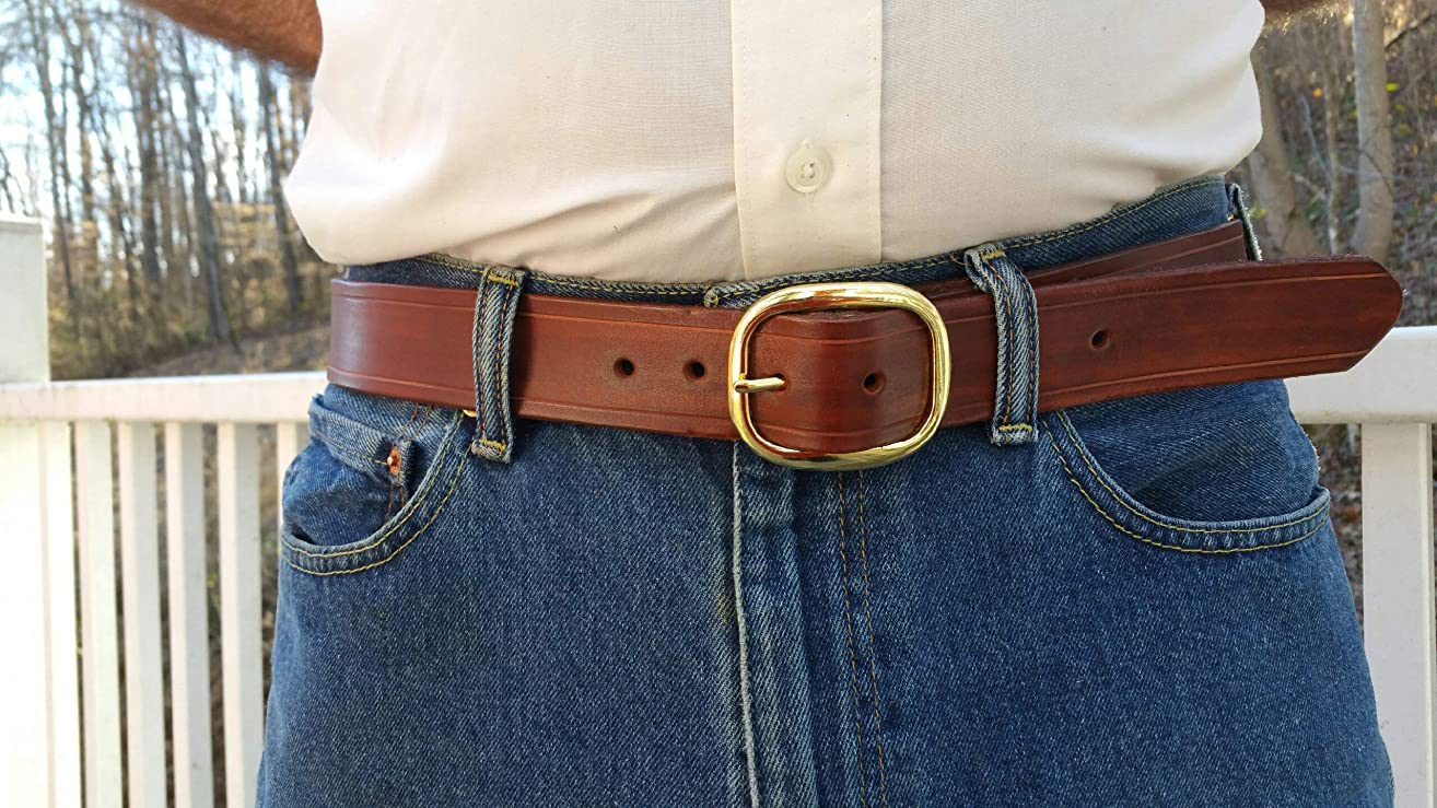 Mahogany leather belt Handmade men's belt High quality leather belt, Anniversary gift for him,