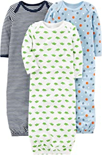 Simple Joys by Carter's Baby Boys' 3-Pack Cotton Sleeper Gown
