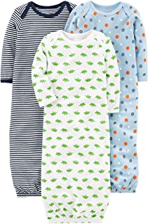 Boys' 3-Pack Cotton Sleeper Gown