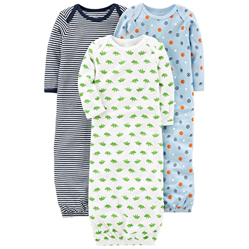 011c9b427 Simple Joys by Carter's Baby Boys' 3-Pack Cotton Sleeper Gown