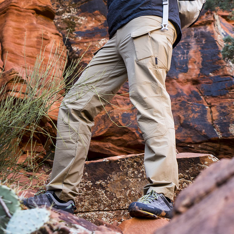 Helikon-Tex Outback Ligne, OTP Outdoor Tactique Pantalon en Nylon Spandex Kaki Versastretch