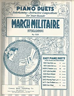Streabbog March Militaire Piano Duet