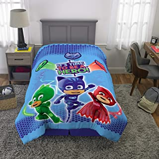 "Franco Kids Bedding Super Soft Reversible Comforter, Twin/Full Size 72"" x 86"", PJ Masks"