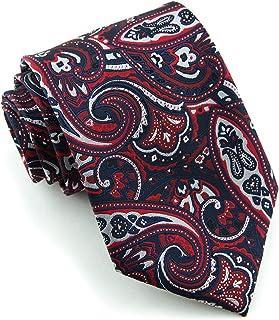 Littlest Prince Couture Crimson & Black Paisley Youth Necktie