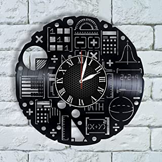 Olha Art Design Science wall art gift scientist wall clock science charm math decor physics gift math poster science project
