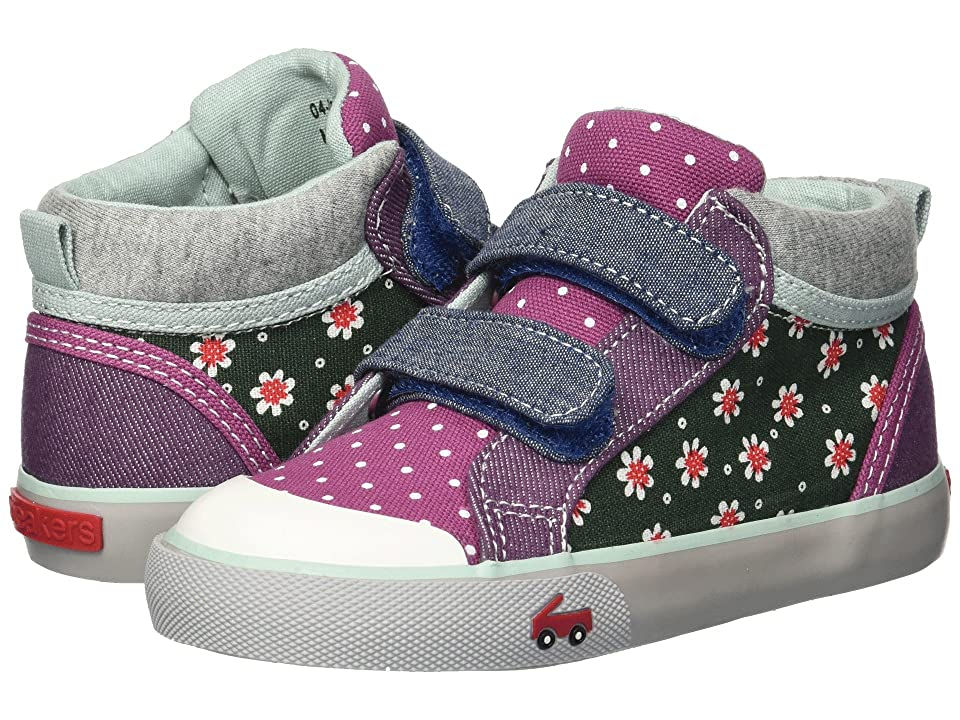 See Kai Run Kids Kya (Toddler/Little Kid) (Green Floral/Multi) Girl