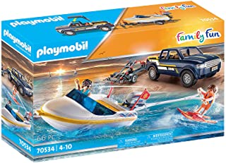 Playmobil Pick-Up with Speedboat