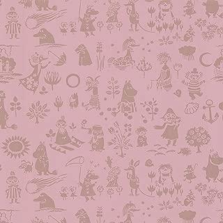 Sandudd SD5164-5 Moomin Pink Novelty Wallpaper,