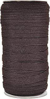 Mandala Crafts Flat Elastic Band, Braided Stretch Strap Cord Roll for Sewing and Crafting (3/8 Inch 10mm 50 Yards, Brown)