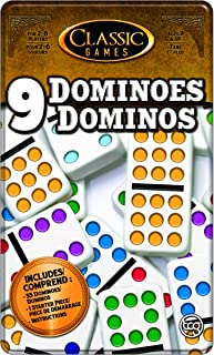 TCG Toys Double 9 Dominoes Game with Tin Case
