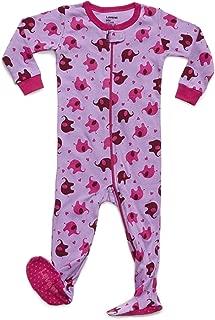 Baby Girls Footed Pajamas Sleeper 100% Cotton Kids & Toddler Pjs (3 Months-5 Toddler)