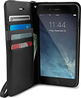 Smartish iPhone 8/7 Wallet Case - Keeper of The Things - Folio Wallet Synthetic Leather Portfolio Flip Credit Card Cover with Kickstand - Black Tie Affair