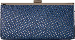 Laura Perforated Framed Clutch