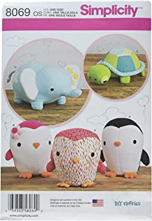 Simplicity Creative Patterns US8069OS 8069 Stuffed Penguins/Turtle/Elephant, One Size