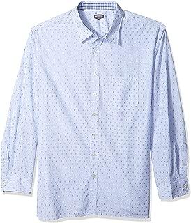 Van Heusen Men's Big and Tall Never Tuck Long Sleeve Button Down Print Shirt