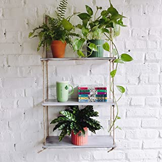 rattan hanging shelf