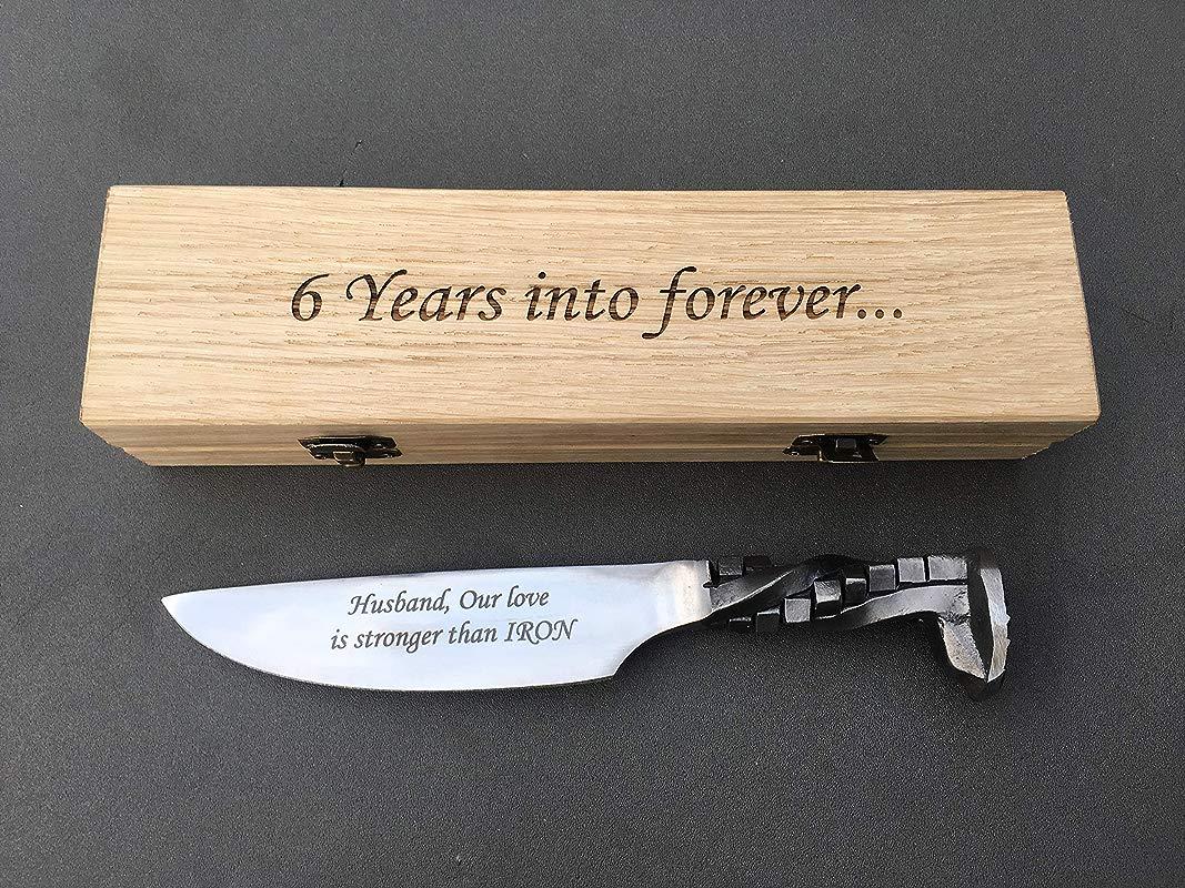 6 Year Anniversary Railroad Spike Knife 6th Anniversary 6th Anniversary Gift For Him Iron Gift For Him Iron Anniversary Gift For Him