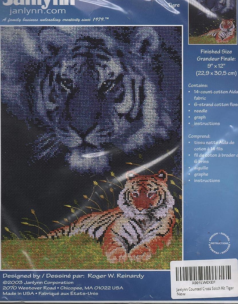 Janlynn Counted Cross Stitch Kit Tiger