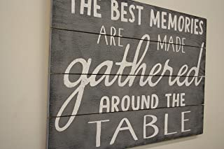 The Best Memories Are Made Gathered Around The Table Kitchen Sign Dining Room Sign