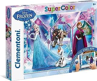 Clementoni - Puzzles 104 + App Disney Frozen 2, For 3 Years & Above