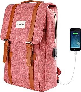 RedLemon Mochila para Laptop Escolar y Ejecutiva, con Puerto USB para Power Bank (no Incluido), Resistente, Diseño Ergonóm...