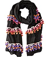 Bindya - Three Layer Pom Pom Scarf