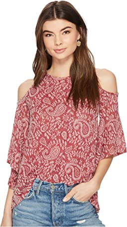 Lucky Brand - Cold Shoulder Open Front Top