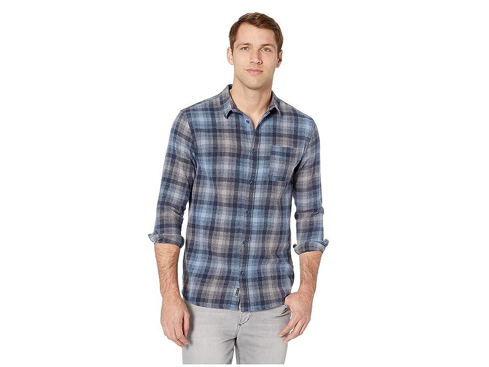 Quiksilver Fatherfly Long Sleeve Shirt (Navy Blazer) Men