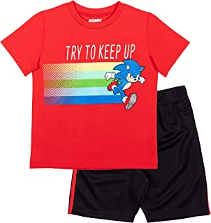 Sonic The Hedgehog Boys Graphic T-Shirt Mesh Shorts Set