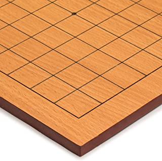 Yellow Mountain Imports Beechwood Veneer 0.4-Inch Etched Beginner's Go Game Board (Goban) with 9x9 Playing Field for Quick...