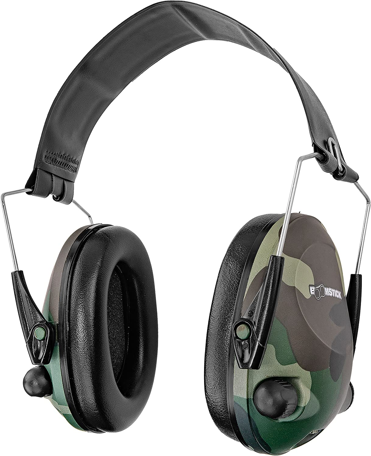 Boomstick Gun Accessories Electronic Low Profile Noise Cancelling Over The Head Folding Earmuff Noise Safety Hearing Predection Camo