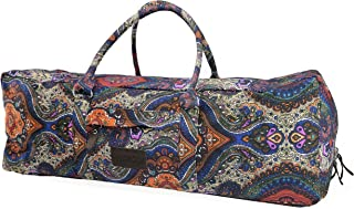 Yoga Mat Duffle Bag Extra Large XL Patterned Canvas with Pocket and Zipper