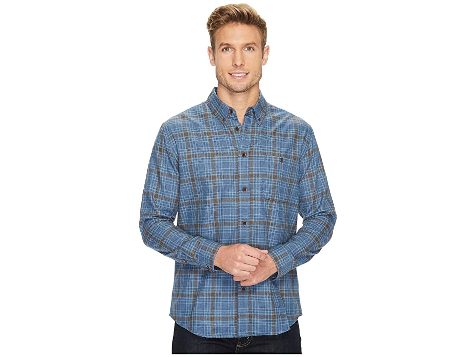 Quiksilver Waterman Cortez Straight Long Sleeve Flannel Shirt (Estate Blue) Men