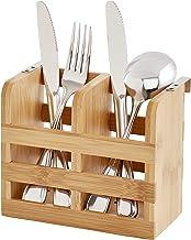 Helen's Asian Kitchen Dish Rack Caddy, Natural Bamboo