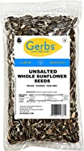 Gerbs Unsalted Whole Sunflower Seeds, 1 LB. – Top 14 Food Allergy Free & NON GMO - Vegan, Keto Safe & Kosher - Grown in United States