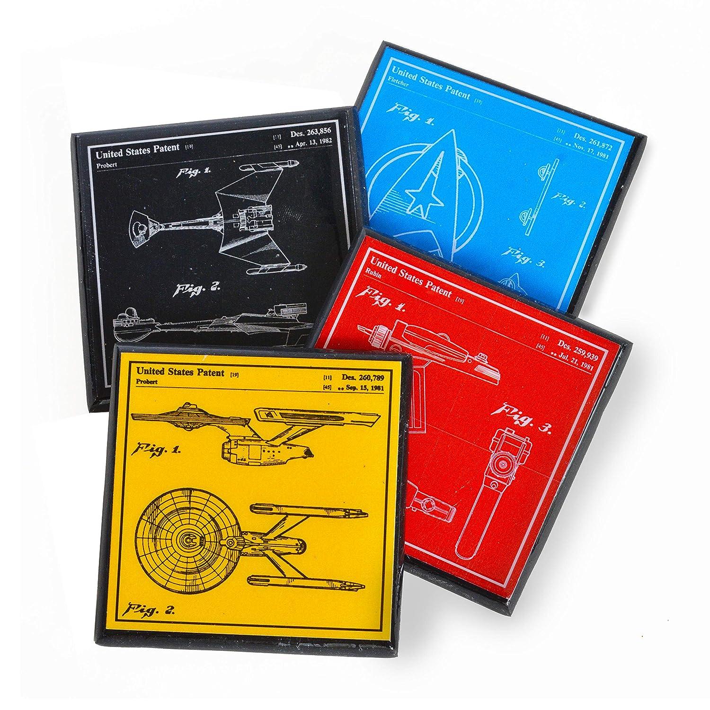 Star Shipping included Trek Patent Set Coaster Super sale Art