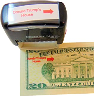 Trump Stamper Donald Trump's House Self Inking Rubber Stamp with Red Ink and Arrow