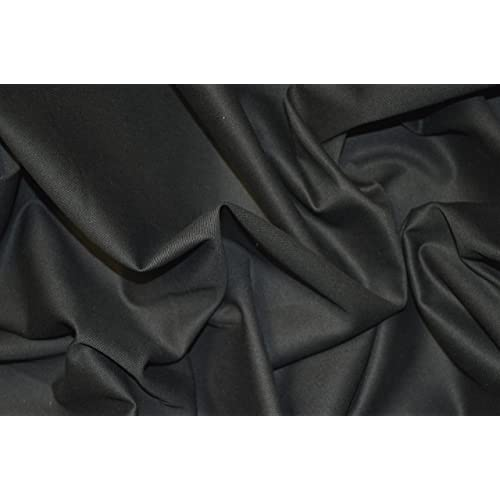 "BLACK BRUSHED LYCRA JERSEY STRETCH FABRIC T-SHIRT WEIGHT BY THE METRE 58/"" WIDTH"