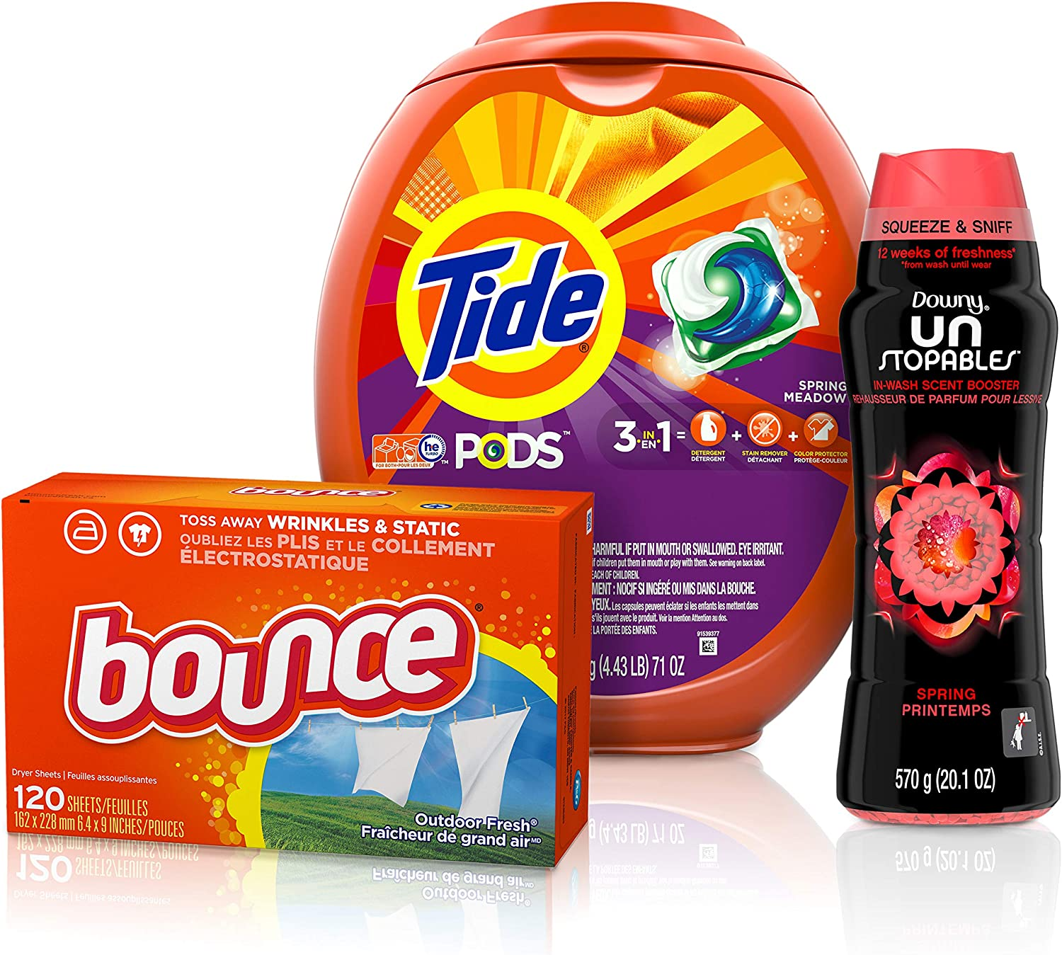 Tide PODS 3 in 1 HE Turbo 直営ストア with Detergent 出色 Laundry Unst Pacs Downy