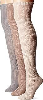 Women's 3 Pair Pack Open Pointelle Over The Knee Socks