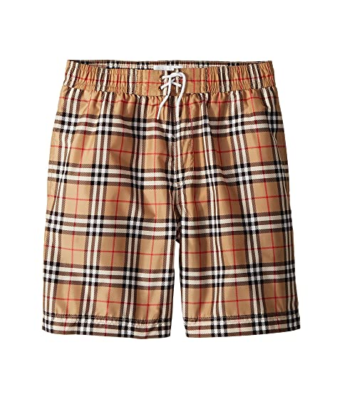 Burberry Kids Galvin Check ACIMK Swim Trunks (Little Kids/Big Kids)