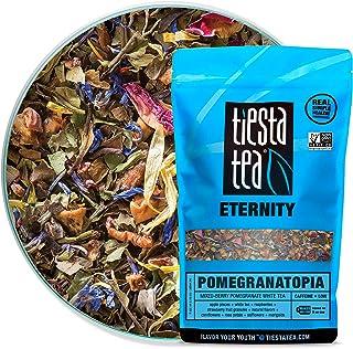 Tiesta Tea - Pomegranatopia, Loose Leaf Mixed-Berry Pomegranate White Tea, Low Caffeine, Hot & Iced Tea, 8 oz Bulk Bag - 2...