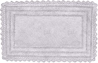 "Soft Cotton Crochet Rectangle Pattern Bath Rug - Mats for Bathroom, Shower, Bath Tub, Sink, Toilet - (21"" x 34"" Inches, Li..."